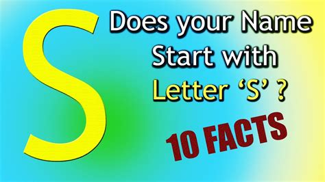 Character Traits For The Letter Q 10 facts about the whose name starts with letter s