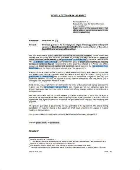 Guarantee Letter Hotel Adalah best 4 letter format 187 bank guarantee nited states