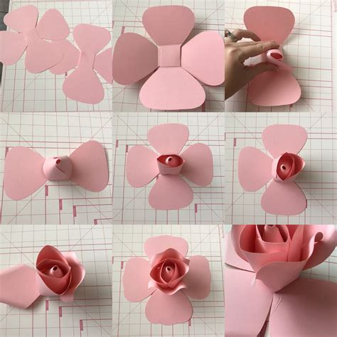 printable paper roses free templates and tutorial on ann neville design blog