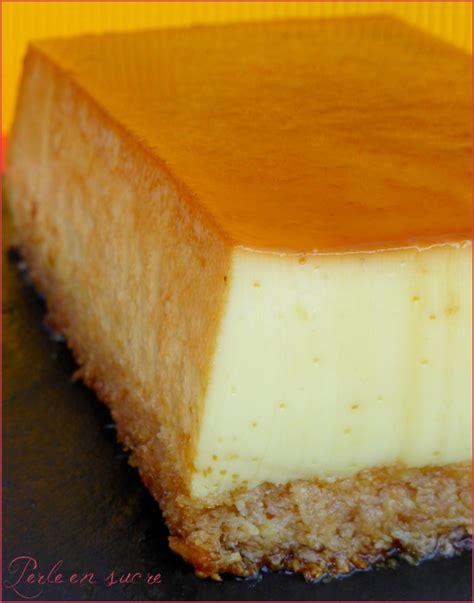 film antillais coco la fleur gteau flan magique lait concentr noix de coco et caramel