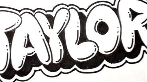 draw bubble letters taylor  graffiti  art