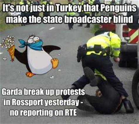 Garda Memes - garda use violence arrests to suppress rossport protests