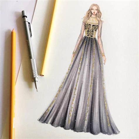 gown designs by eris showcase fashion illustrators skill