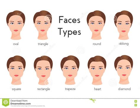 types of hair for types of faces shapes types of face shapes female www pixshark com images