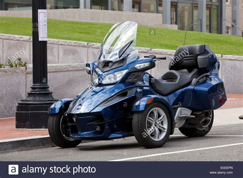 can am spyder rt 3 wheel motorcycle usa stock photo