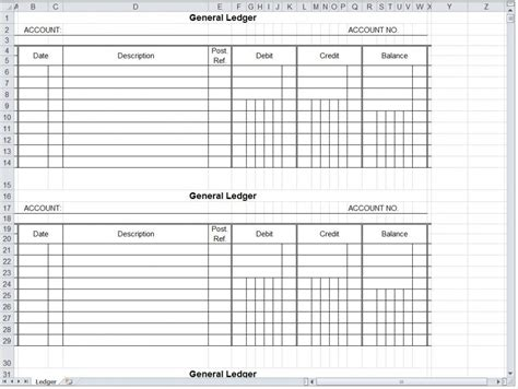 accounting template excel free excel accounting templates 1 account