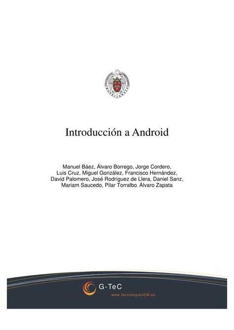 imagenes a pdf android pdf de programaci 243 n introducci 243 n a android
