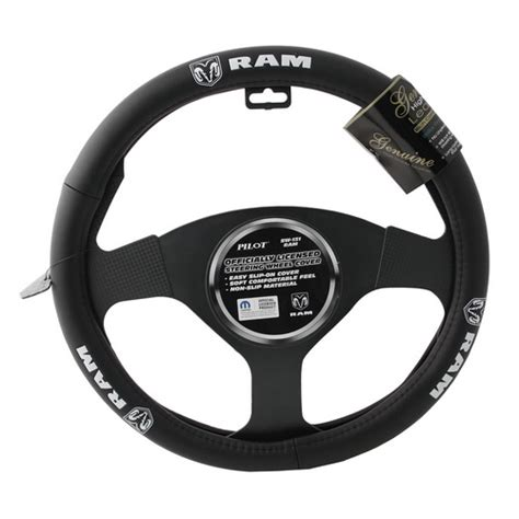 Steering Wheel Covers Dodge Genuine Dodge Ram Logo Leather Steering Wheel Cover Ebay