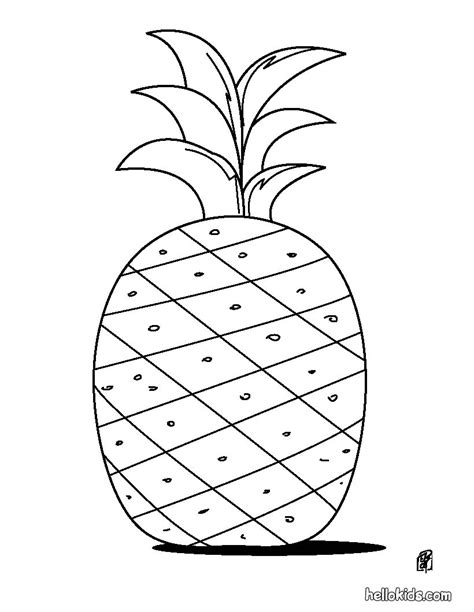 pineapple color pineapple coloring pages hellokids