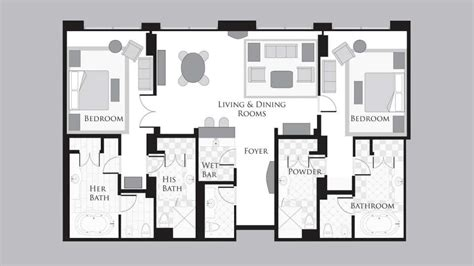 mgm floor plan mgm signature 2 bedroom suite floor plan www indiepedia org