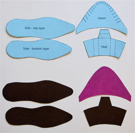 How To Make A Shoe With Paper - templates on templates card templates and