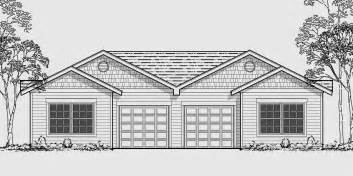 Duplex House Plans With Garage by One Story Duplex House Plans Narrow Duplex Plans 2 Bedroom