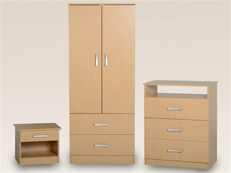 Seconique Flat Packed Polar Beech Bedroom Furniture Package Beech Bedroom Furniture Uk