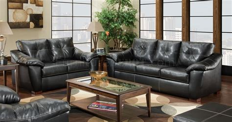black bonded leather sofa and loveseat set