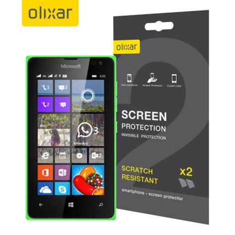 8 ways to keep your screens looking brand olixar microsoft lumia 435 screen protector 2 in 1 pack mobilefun