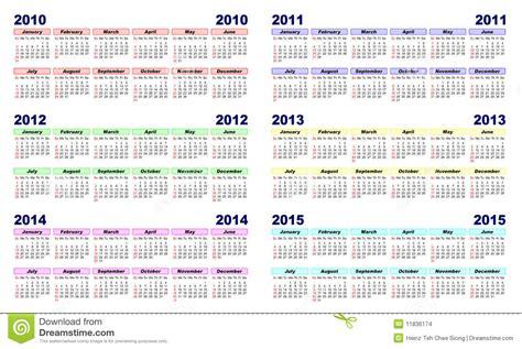 Calendrier Annuel 2010 Calendario 2010 2015 Imagenes De Archivo Imagen 11836174