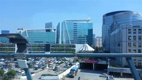 gurgaon rapid metro cyber city view youtube