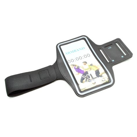 universal xl sports armband with key storage for 5 5 inch smartphone ze ad232 black