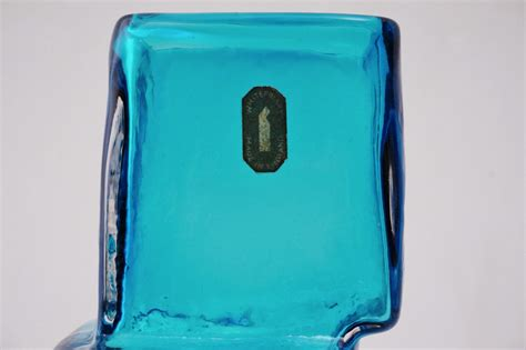 Drunken Bricklayer Vase by Whitefriars Drunken Bricklayer Vase Kingfisher Blue 1966