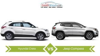 Jeep Compass Size Jeep Compass Vs Hyundai Creta Specs Comparison