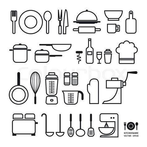 Kitchen Collection Jobs Kitchen Tool Icons Collection Can Be Used For