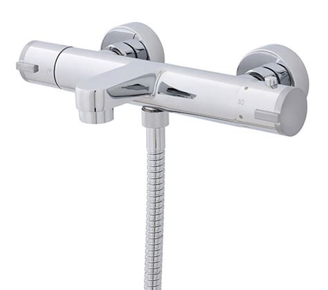 thermostatic bath shower tap ultra wall mounted thermostatic bath shower mixer tap vbs021
