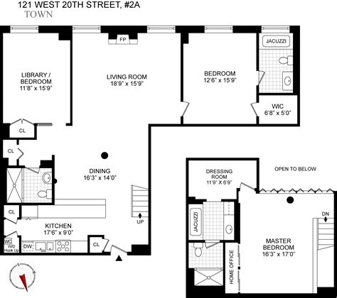 Good Kitchen Design Layouts Unit 2a 121 West 20th Street Floor Plan New York