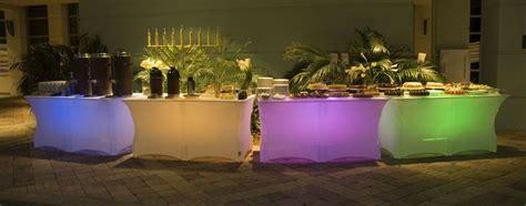 buffet lighted 6 foot buffet catering