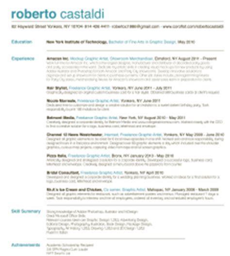 designer resume sles roberto castaldi graphic designer resume by roberto