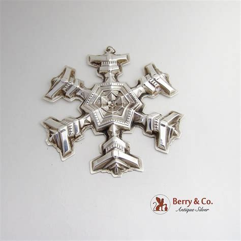 vintage snowflake christmas ornament sterling silver