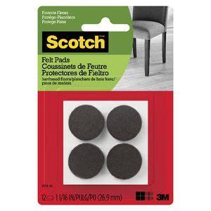 scotch felt pads cm brown  pack officeworks