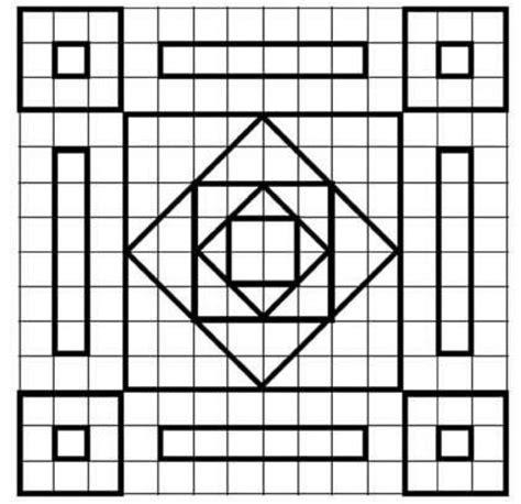 imagenes para dibujar en cuadricula figuras geometricas varias