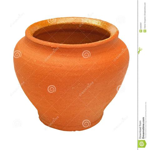 Brown Clay brown clay flowerpot royalty free stock photography