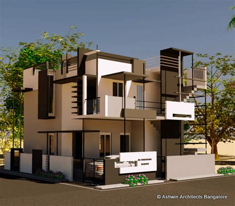 architects home design beautiful front elevation house design by ashwin architects