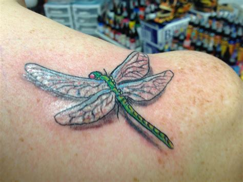 3d dragonfly tattoos dragonfly 3d ink ideas
