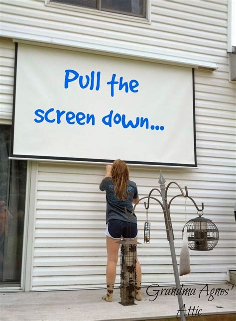 how to make a backyard screen 25 best ideas about outdoor projector on