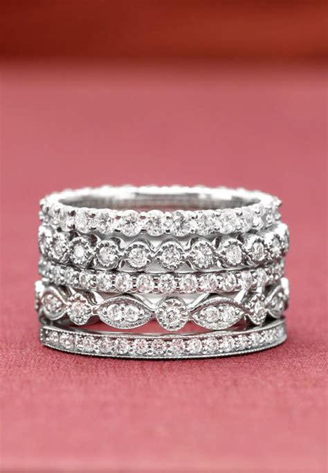Wedding Ring Stack by 19 Gorgeous Stacked Wedding Rings