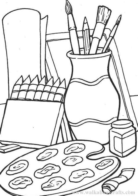 Arts And Crafts Coloring Pages colouring in pictures print and colour materials images