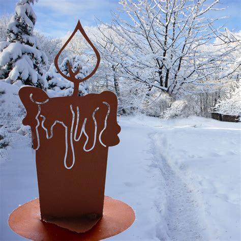Garten Dekorieren Im Winter by Nat 252 Rliche Edelrost Antik Kerze Als Winter