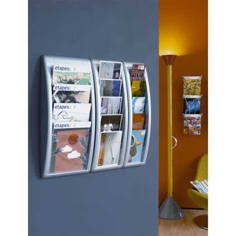 Wall Mounted Leaflet Display Racks by 1 3 A4 Wall Leaflet Holder