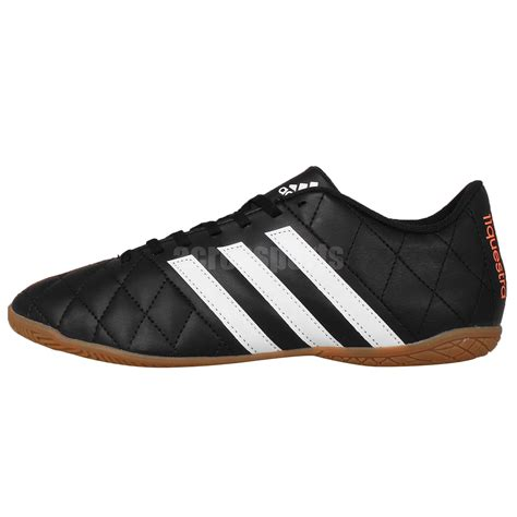 adidas 11 questra in black white indoor mens football