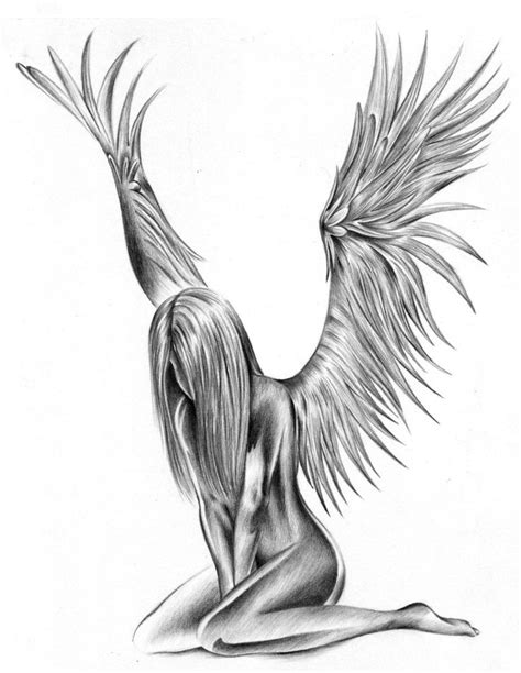 sad angel tattoo designs sad fallen design