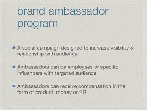 Brand Ambassador Program Blueprint By Britt Michaelian Brand Ambassador Program Template