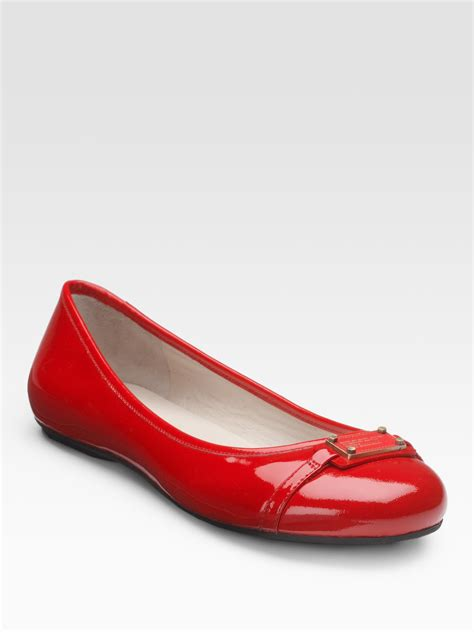 marc flat shoes marc by marc patent leather logo ballet flats in