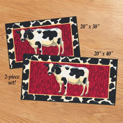 cow kitchen rug cow 2 pc kitchen rug set from collections etc