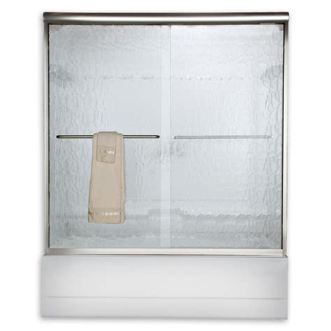 Clear Glass Frameless Sliding Shower Door American Standard Am00350 400 Clear Glass Frameless By Pass Sliding Shower Doors Fits 56 To