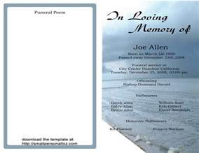 free obituary template free funeral program templates find sle funeral