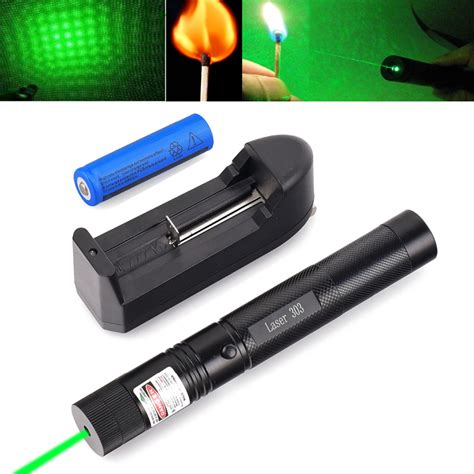 Green Laser 303 T1910 532nm 5mw 303 green laser pointer lazer pen burning beam 18650 battery burning match