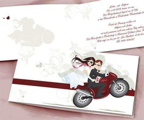 Hochzeitseinladung Motorrad by Einladungskarten Hochzeit Guenstig Rot Motorrad Kreativ