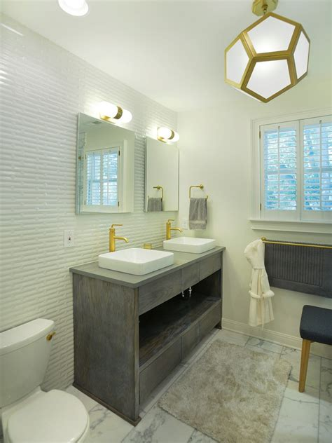 accent wall in bathroom tile accent wall bathroom contemporary with marble floor